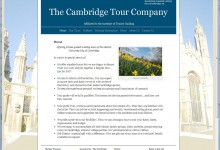 The Cambridge Tour Company, Website Design Kings Lynn and Norfolk