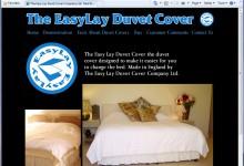 EasyLay Duvet Cover Ltd, Website Design, Norfolk and Kings Lynn