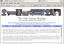 Old Grannary Reclaim, Website Design, Kings Lynn and Norfolk