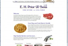E. H. Prior & Sons, Website Design, Logo, Letterheads, Business cards