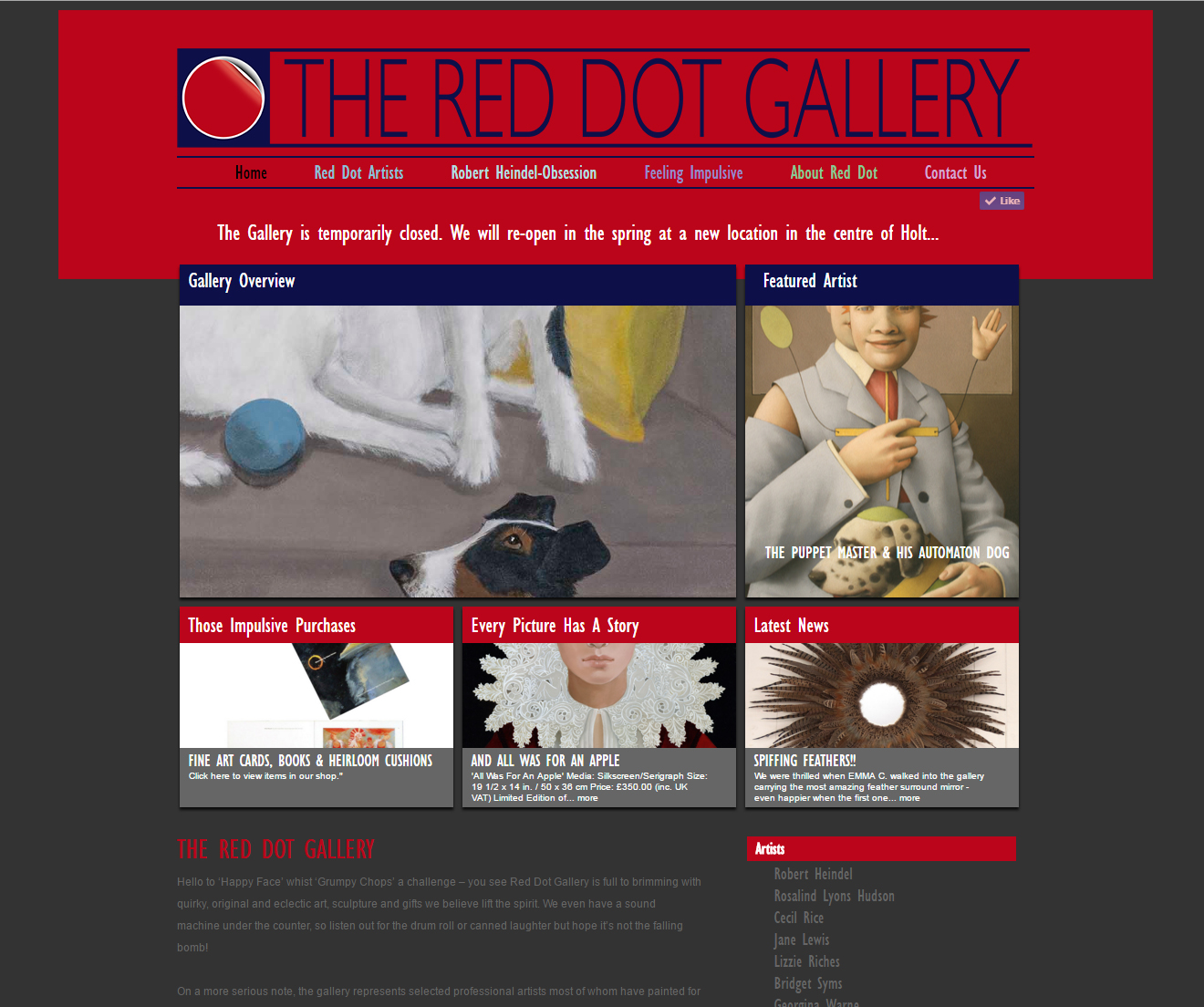 the red dot gallery
